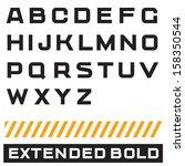 vector alphabet. font  type...   Shutterstock .eps vector #158350544