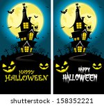halloween theme background  ... | Shutterstock .eps vector #158352221