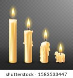 burning candle with dripping or ... | Shutterstock .eps vector #1583533447