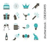 celebration icon   color | Shutterstock .eps vector #158354495