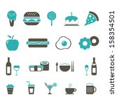 food and drink icon   color | Shutterstock .eps vector #158354501