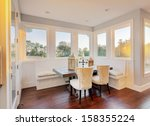 bright sunlit dining room and... | Shutterstock . vector #158355224