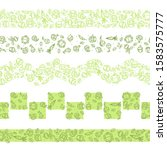 collection of seamless border... | Shutterstock .eps vector #1583575777