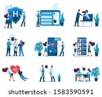 large set of 2d concepts of... | Shutterstock .eps vector #1583590591