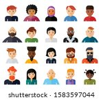 set of people avatar flat... | Shutterstock .eps vector #1583597044