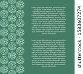 wedding card. vector mandala... | Shutterstock .eps vector #1583607274