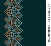 gradient frame in oriental... | Shutterstock .eps vector #1583607277