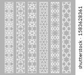 vector set of line borders with ... | Shutterstock .eps vector #1583628361