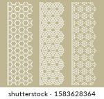 vector set of line borders with ... | Shutterstock .eps vector #1583628364