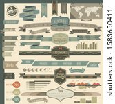 retro vintage style website and ...   Shutterstock .eps vector #1583650411