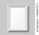 realistic white vertical... | Shutterstock .eps vector #1583665171
