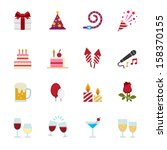 party icons and celebration... | Shutterstock .eps vector #158370155