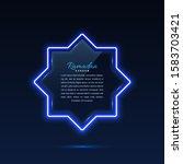glass banner arabic style....   Shutterstock .eps vector #1583703421
