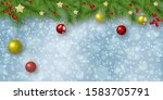 christmas and new year vector... | Shutterstock .eps vector #1583705791