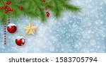 christmas and new year vector... | Shutterstock .eps vector #1583705794