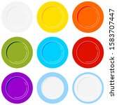 plate icons set isolated on...   Shutterstock .eps vector #1583707447