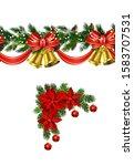 vector christmas border... | Shutterstock .eps vector #1583707531