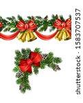 vector christmas border... | Shutterstock .eps vector #1583707537