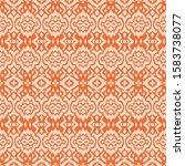 lace border. ikat seamless... | Shutterstock .eps vector #1583738077