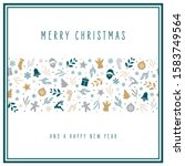 christmas icon card elements... | Shutterstock .eps vector #1583749564