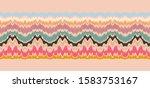 ikat border. geometric folk... | Shutterstock .eps vector #1583753167