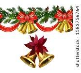 vector christmas border... | Shutterstock .eps vector #1583756764