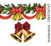 vector christmas border... | Shutterstock .eps vector #1583756767