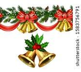 vector christmas border... | Shutterstock .eps vector #1583756791