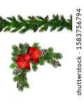 vector christmas border... | Shutterstock .eps vector #1583756794