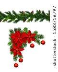 vector christmas border... | Shutterstock .eps vector #1583756797