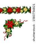 vector christmas border... | Shutterstock .eps vector #1583756821