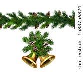 vector christmas border... | Shutterstock .eps vector #1583756824
