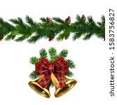 vector christmas border... | Shutterstock .eps vector #1583756827