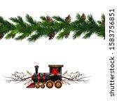 vector christmas border... | Shutterstock .eps vector #1583756851