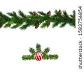 vector christmas border... | Shutterstock .eps vector #1583756854