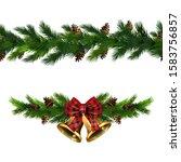 vector christmas border... | Shutterstock .eps vector #1583756857