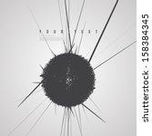minimal abstract black sphere...   Shutterstock .eps vector #158384345