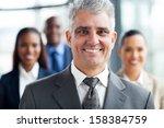 handsome senior businessman... | Shutterstock . vector #158384759