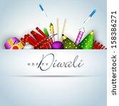 happy diwali celebration... | Shutterstock .eps vector #158386271