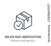 delivered box verification... | Shutterstock .eps vector #1583869507