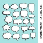 speech bubble sketch hand drawn | Shutterstock .eps vector #158387531