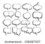 speech bubble sketch hand drawn | Shutterstock .eps vector #158387537