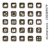 web icon set  vector...