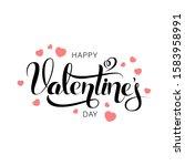 vector happy valentines day...   Shutterstock .eps vector #1583958991