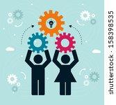 teamwork concept | Shutterstock .eps vector #158398535
