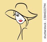 girl fashion design isolated... | Shutterstock .eps vector #1584023794