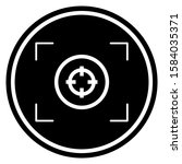 focus icon design. focus lens... | Shutterstock .eps vector #1584035371
