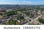 Aerial view of the old part of Hamilton, Ontario