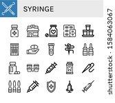 syringe simple icons set.... | Shutterstock .eps vector #1584063067