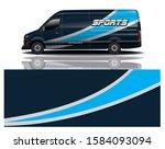 van car decal wrap design vector | Shutterstock .eps vector #1584093094